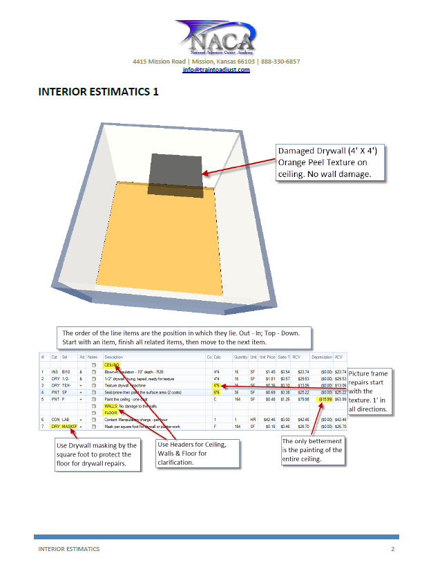 Interior estimatics train to adjust for Xactimate 28 tutorial