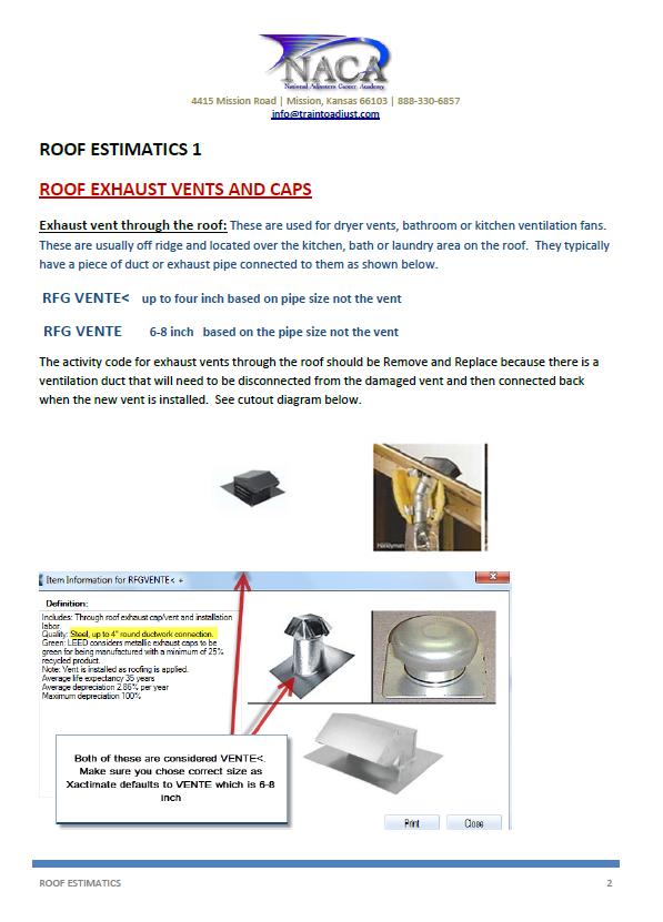 Roofing estimatics train to adjust for Xactimate 28 tutorial
