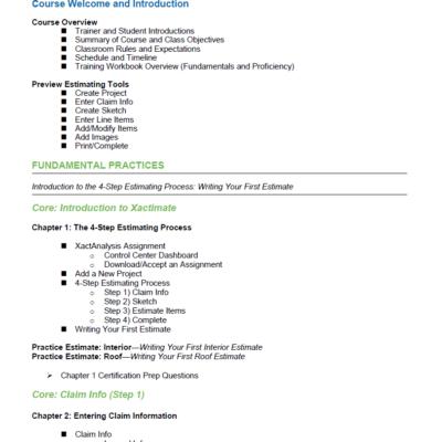 Xactimate 28 Classroom Training Course